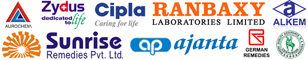 Bayer, Pfizer, Ajanta pharma, Cipla, Ranbaxy, Sunrise